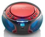 Lenco SCD-550 rood draagbare radio