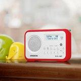 afbeelding van de Sangean DPR67 rood tafelradio