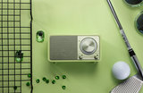 Sangean WR-7 groen radio