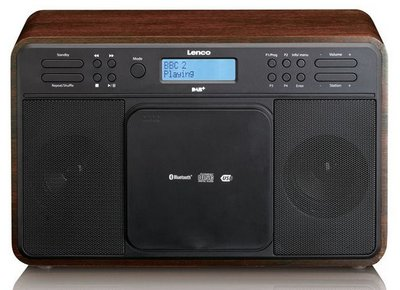 Lenco DAR-040 walnut DAB+ radio