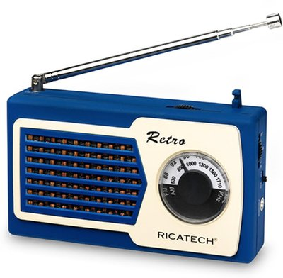 Ricatech PR22 Compact Retro Radio Blue
