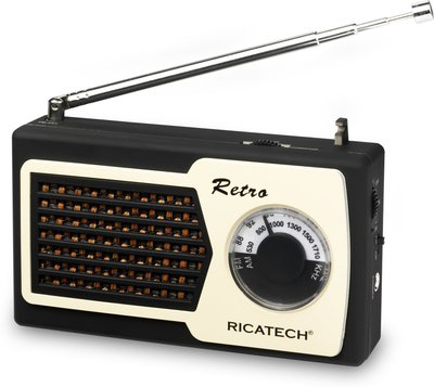 Ricatech PR22 Compact Retro Radio Black