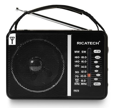 Ricatech PR75 Portable Radio Black