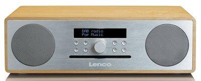 Lenco DAR-070 Oak/Silver DAB+ radio