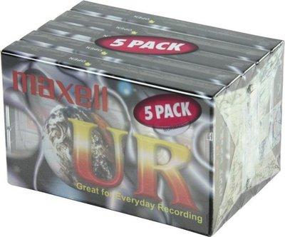 Maxell UR90 - 5 pack cassette
