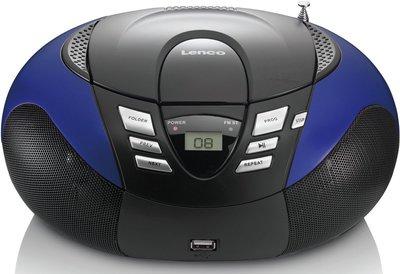 Lenco SCD-37 blauw draagbare radio