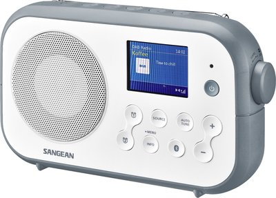 Sangean DPR-42BT wit/steenblauw DAB+ radio