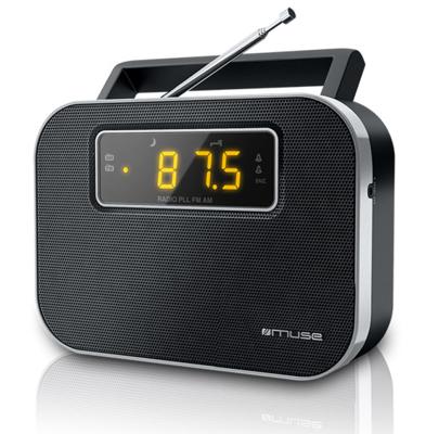 Muse M-081 zwart draagbare PPL wekkerradio