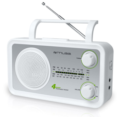 Muse M-05 white 4-band radio