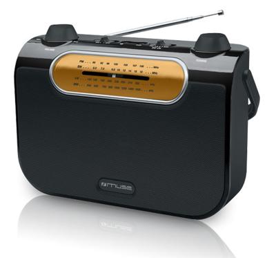 Muse M-052 R zwart 4-band radio
