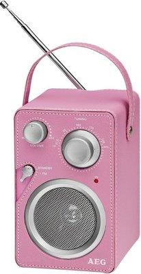AEG MR4144 draagbare radio roze