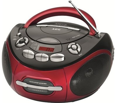 AEG SR4353 radio rood