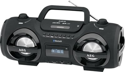 AEG SR4359 Bluetooth gettoblaster radio zwart