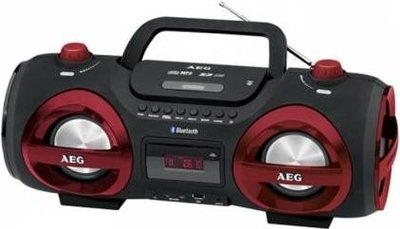 AEG SR4359 Bluetooth gettoblaster radio rood