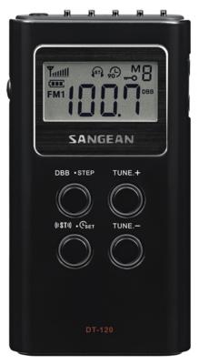 Sangean DT-120 zwart zakradio