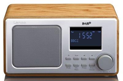 Lenco DAR-010 hout DAB+ radio