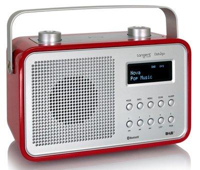 Tangent DAB2go Bluetooth rood DAB+ radio