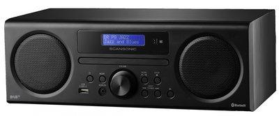 Scansonic DA310 zwart DAB+ radio