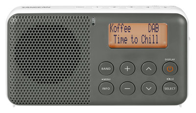 Sangean DPR-64 grijs/wit DAB+ radio