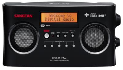 Sangean DPR-25 zwart DAB+ radio