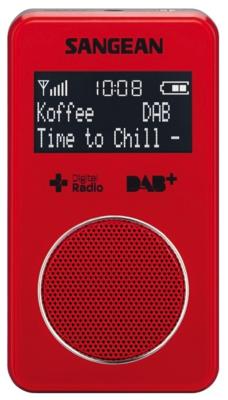 Sangean DPR-34 rood DAB+ zakradio