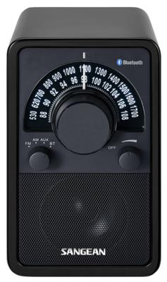 Sangean WR-15BT glossy black radio