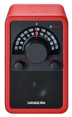 Sangean WR-15BT leather red radio