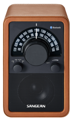 Sangean WR-15BT leather brown radio