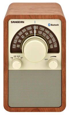 Sangean WR-15BT walnut radio