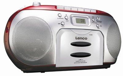 Lenco SCD-420 rood draagbare radio