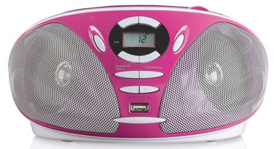 Lenco SCD-300 roze draagbare radio