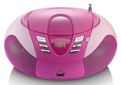 Lenco SCD-37 roze draagbare radio