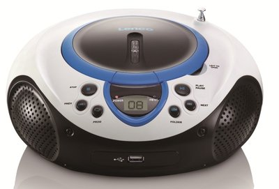 Lenco SCD-38 blauw draagbare radio