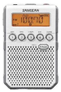 Sangean DT-800 wit zakradio