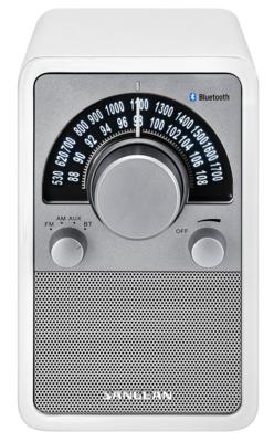 Sangean WR-15BT glossy white radio