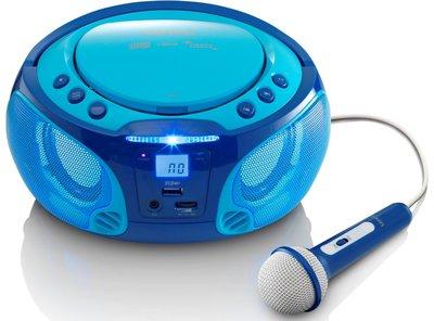 Lenco SCD-650 blauw draagbare karaoke radio