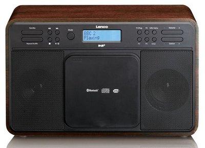 Lenco DAR-040 walnut DAB+ radio