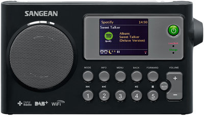 Sangean WFR27C zwart tafelradio