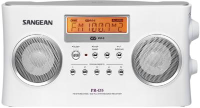 afbeelding van de Sangean PR-D5 wit radio