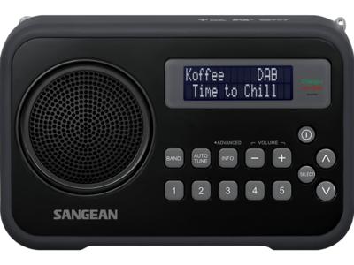 afbeelding van de Sangean DPR67 zwart tafelradio