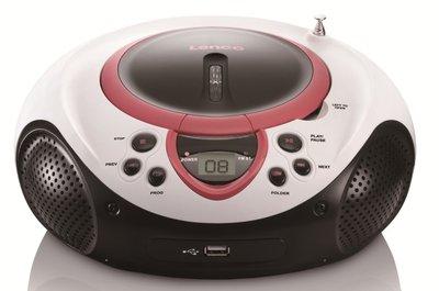 Lenco SCD-38 roze draagbare radio