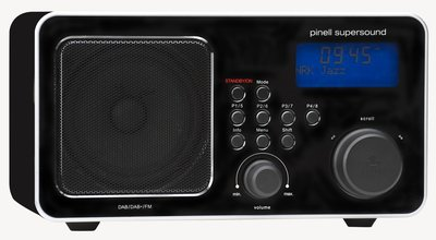 Pinell Supersound zwart DAB+ radio
