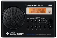 afbeelding van de Sangean DPR69 zwart tafelradio