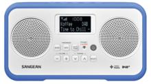 afbeelding van de Sangean DPR77 blauw tafelradio