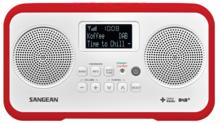afbeelding van de Sangean DPR77 rood tafelradio