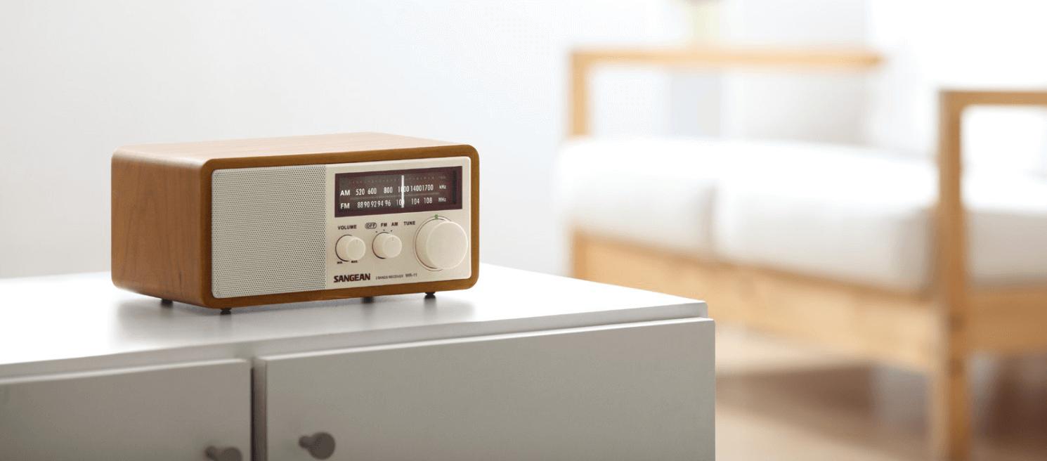 Afbeelding van een Sangean radio